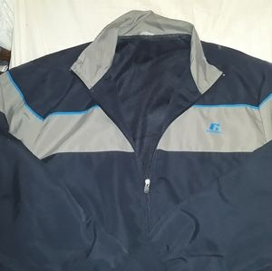 RUSSELL XL blue zip up athletic jacket